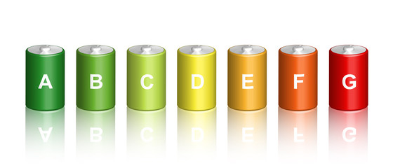 Illustration of 3d battery energy efficiency