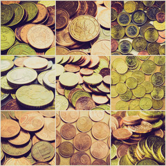 Retro look Money collage