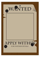 Wanted Apply Within Poster