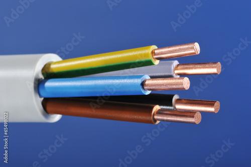 Leinwanddruck Bild Stromkabel