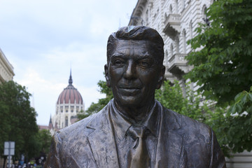 Reagan statue in Budapest
