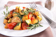 Постер, плакат: ratatouille cooked vegteables