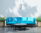 Contemporary bohemian elegant moroccan outdoor sofa