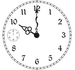 Uhr Uhrzeit Zeit vergehende Zeit Leben verstrichen
