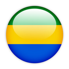 Gabon flag button