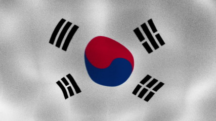 South Korea Flag, Textile, Background