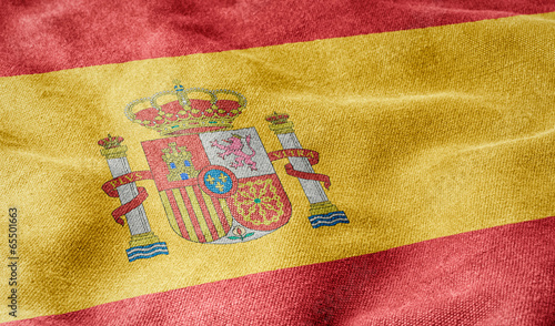 canvas print picture Flagge von Spanien