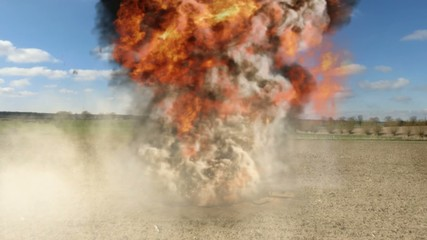 Bomb Explosion on a field