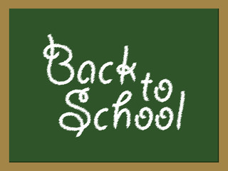 Back to School green board