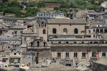 Italy, Sicily, Scicli (Ragusa Province), view of the town