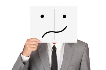 Business hide confuse emotion