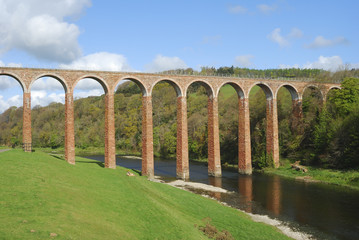 bridge over river Tweed near Melrose