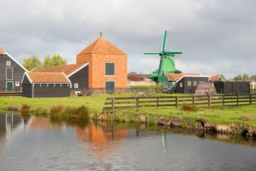Les moulins de Zaanse Schans en Hollande