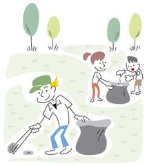ゴミを拾う人々