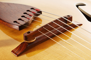 guitar wooden bridge