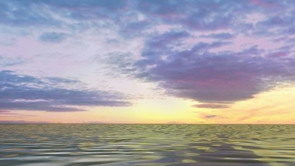 Ocean Cruising sunset video background