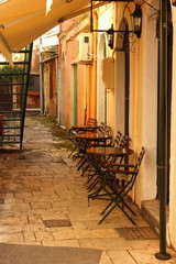 Cafe In An Alley
