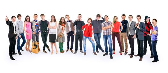 Teenage friends large group