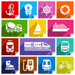 Transport flat icon, bright color-01