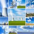 energie kraftwerk windenergie collage set