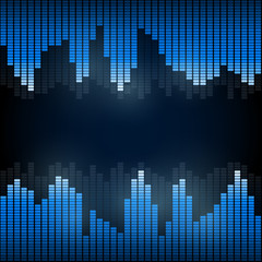 Equalizer on abstract technology background