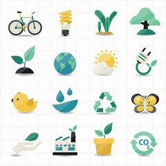 Environment and Green Icons