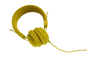 Stylish colorful headphones with cable