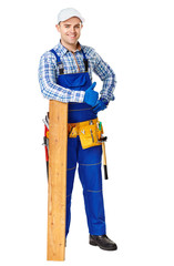 Happy young carpenter