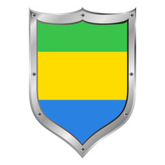 Gabon flag button.