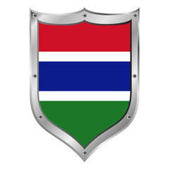 Gambia flag button.