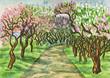 Quadro Lilac garden