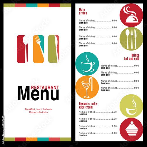 restaurant menu - 65510087