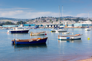 Teignmouth Devon River Teign boats