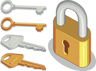 Keys & Lock or Padlock