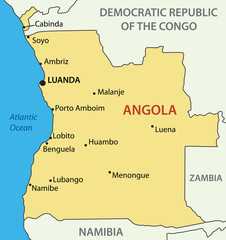 Republic of Angola - vector map