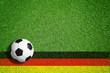 Leinwanddruck Bild - Soccer - Background / Germany