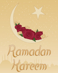 ramadan rose greeting