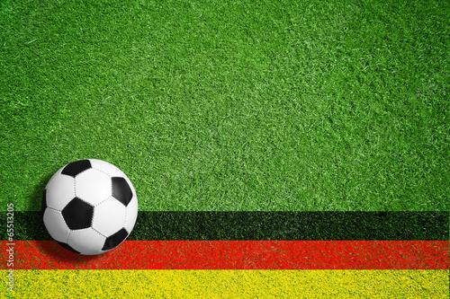 Leinwanddruck Bild Soccer - Background / Germany