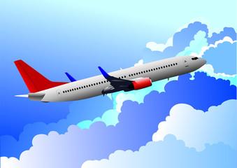 Aairplane in air. vector illustration