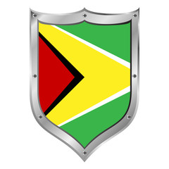 Guyana flag button.