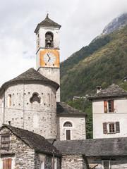 Lavertezzo, Dorf, historische Kirche, Tessin, Schweiz
