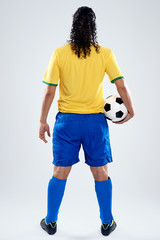 back view soccer man