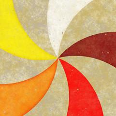 Grungy Pinwheel Rays