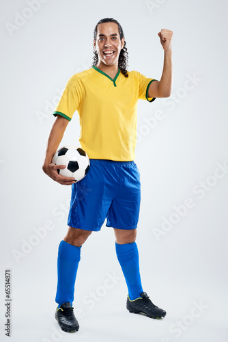 smiling soccer player