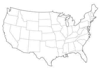 usa vector map
