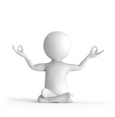 Stickman, meditating, yoga,