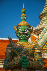 YAK or Giant architectural protector of WAT ARUN TEMPLE