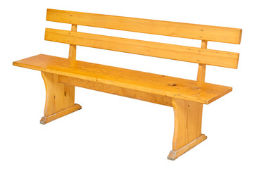 Bench isolated