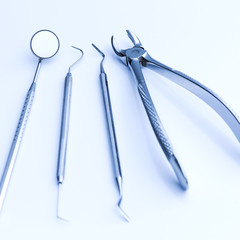 Dentist dental basic instruments