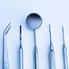 Zahnarzt grundbesteck Instrumente spiegel